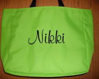 Personalized Embroidered Monogrammed Tote Bag Great Bridesmaid Gift
