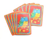 Whoooo ... and Boo - 10 Vintage Owl Playing Cards