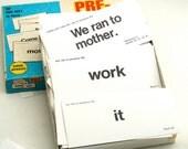 We Ran to Mother . . . Vintage Word Flash Cards