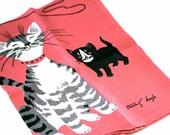 Cat and Mouse - Vintage Tammis Keefe Tea Towel