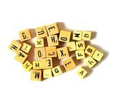 What Shall We Spell ... Vintage Bakelite Alphabet Dice