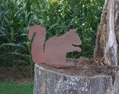 Life Sized Squirrel Silhouette, metal squirrel, metal garden art