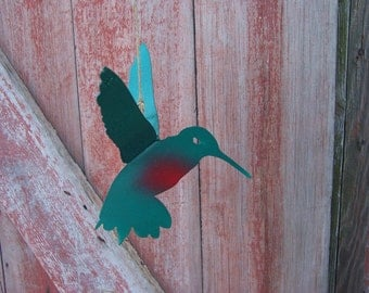 Hummingbird - Metal Garden Art - Metal Yard Art - Metal Hummingbird - Garden Sculpture