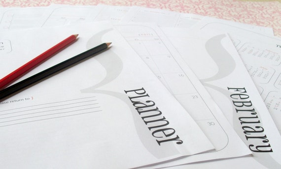 printable pdf letter size ( PLANNER & ORGANIZER )