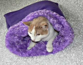 Purple Pet Sac with Fur