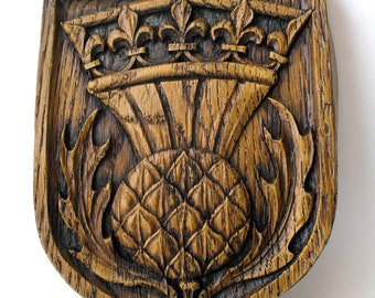 Scottish Thistle Edwardian Reproduction Carving St. Giles Edinburgh
