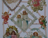 NEW 2011 Collection German Die Cuts/Scraps Angels with Flowers