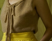 SALE:  camel hand stitched reused sweater