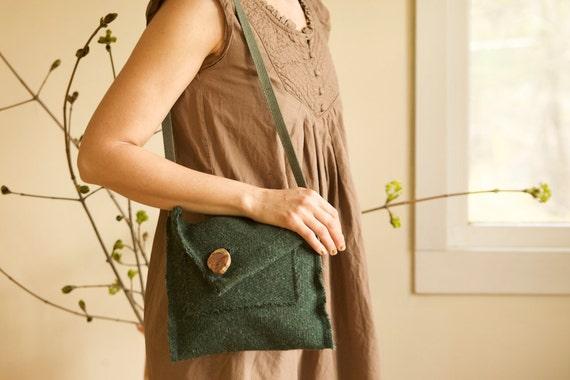 S  A  L  E:   emerald vintage coat purse