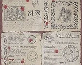 Necronomicon spellbook pages prop for Cthulhu LARP (set no. 5)