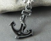 Pewter Anchor Necklace