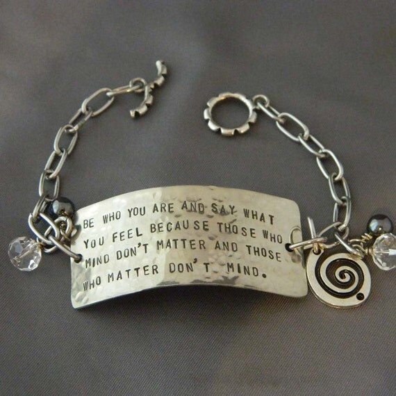 Be Who you are Handstamped Bracelet