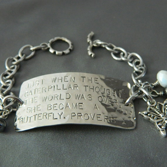 Reserve Listing for Suzanne Butterfly Quote Bracelet