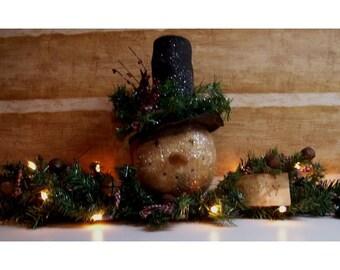 Primitive FROSTY SNOWMAN Pattern/ SWAG/Instant Download Pattern/winter/primitive Christmas/centerpiece/lighted snowman pattern/