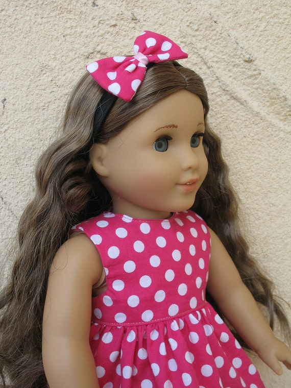 American girl Doll Dress with Headband