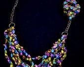 blossom crochet necklace