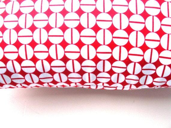 Designer Lumbar Back Pillow Red 12x18