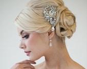 Bridal Hair comb, Crystal Hair comb, Wedding Hair Accessory, Bridal Hair Adornment - PIA