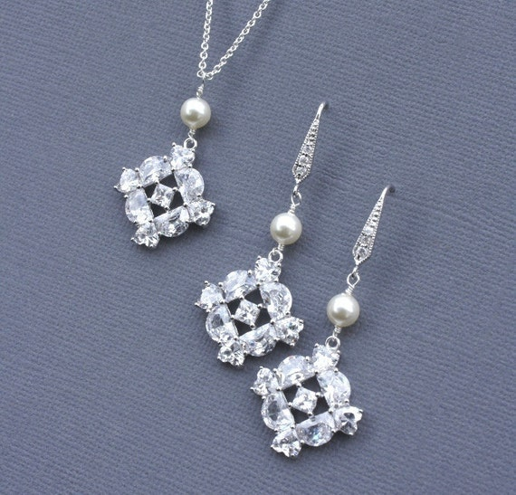 Bridal Jewelry, Bridal Earrings, Wedding Jewelry, Bridal Jewlery Set