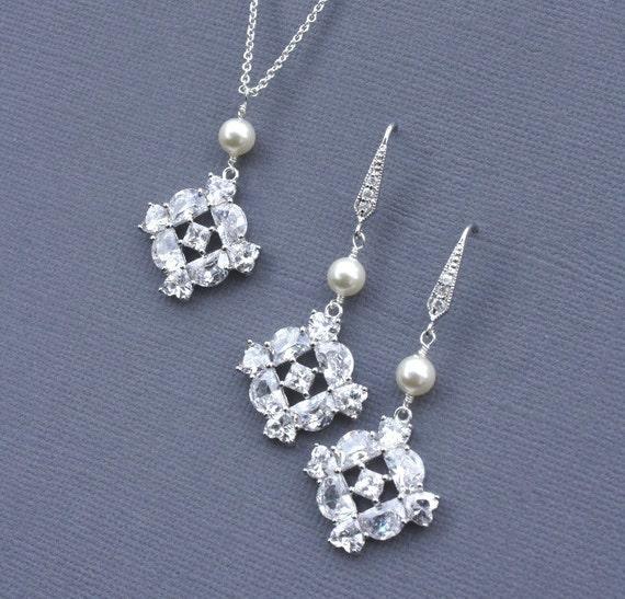 Bridal Jewelry, Bridal Earrings, Wedding Jewelry, Bridal Jewlery Set