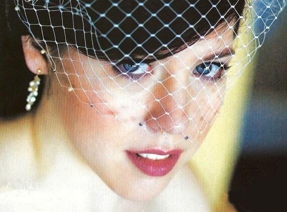 White Birdcage veil