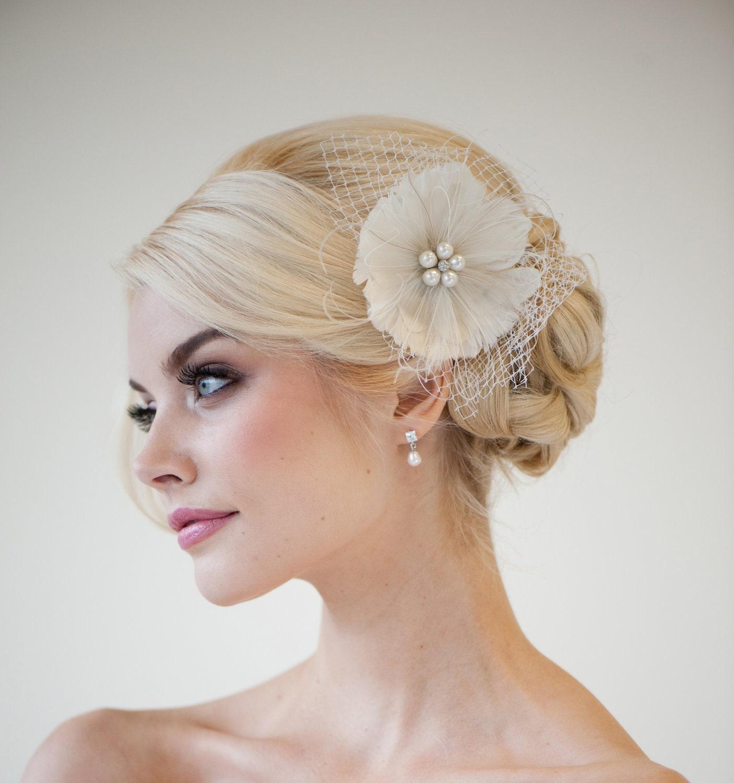 Feather Fascinator Bridal Fascinator Wedding By