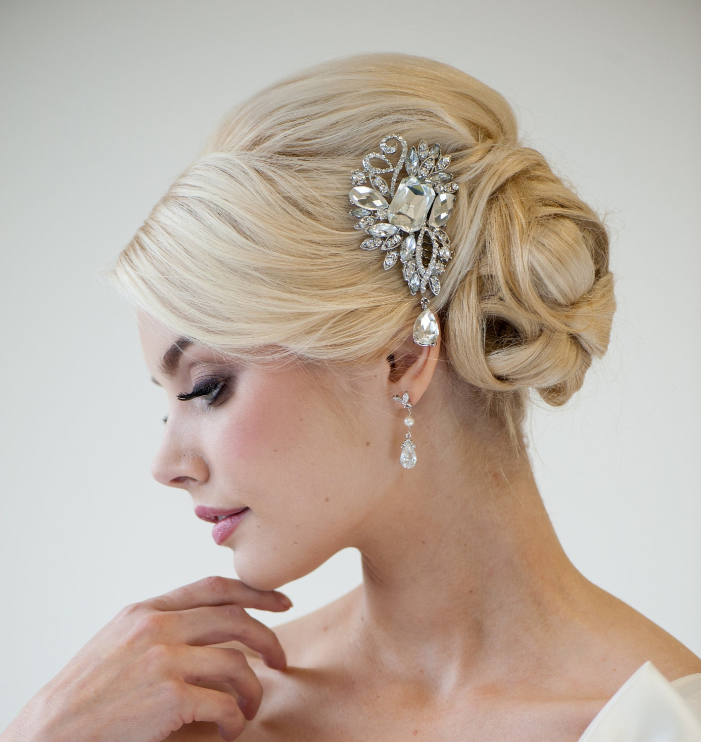 Bride Hairstyles: Wedding Hair Comb Bridal Hair Comb Crystal Hair Comb