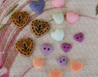 Heart Shaped Button Lot