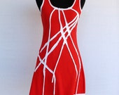 Agave Dress - red and white MADE TO ORDER
