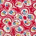 1 METRE Ditto Daisies in Red fabric - Punctuation by American Jane