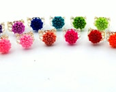 You Choose Color Flower Ring Dahlia Cabochon Flower Cocktail Ring Chrysanthemum