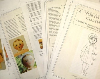 A North Carolina Cloth Doll Pattern to make a Maggie Bessie