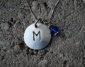 Personalized-Hidden Message-Locket-Hand Stamped Sterling Silver Pendant-