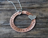 My Kids Have My Heart-Hand Stamped Copper Washer- Personalized for You