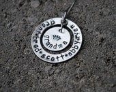 Grandma's Circle of Love-Personalized-Hand Stamped Sterling Silver-