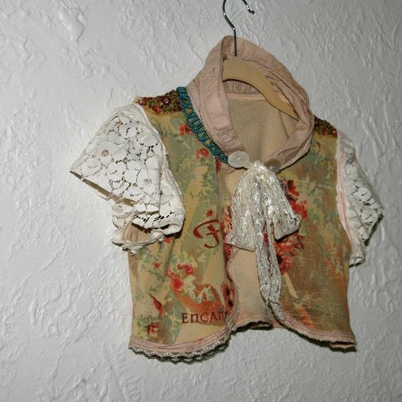 upcycled clothing upcycled bolero . spellbound