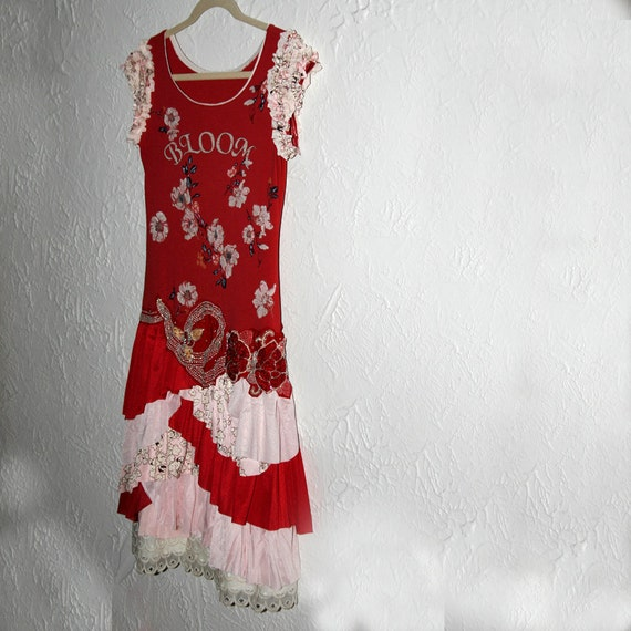 RESERVED: upcycled clothing . dress . bloom