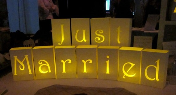 Just Married Paper Luminaries