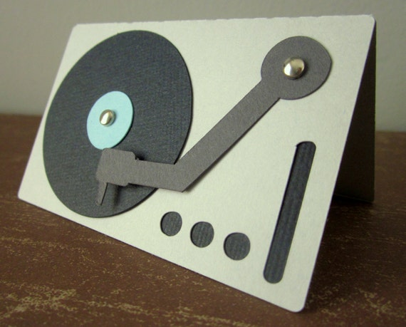 Set of Four Turntable Cards