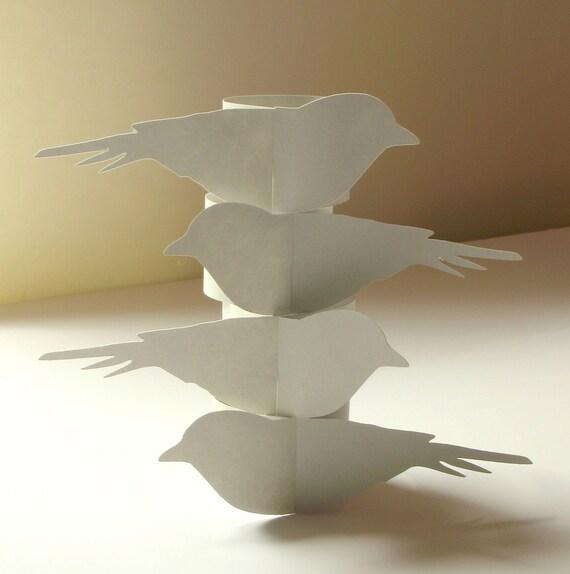 Lovebirds Paper Napkin Rings - Set of 4