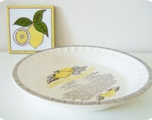 vintage / / LEMON MERINGUE RECIPE / /  pie plate