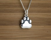 Little Paw - STERLING SILVER - (Charm, Necklace, or Earrings)