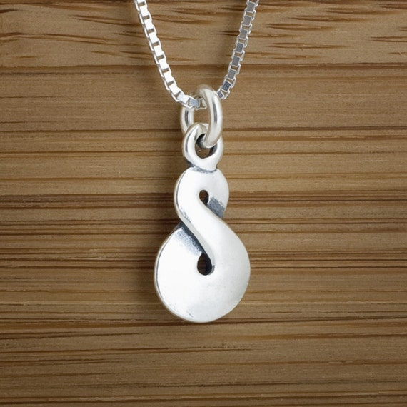 Maori Infinity Twist - STERLING SILVER - Double Sided - (Charm, Necklace, or Earrings)