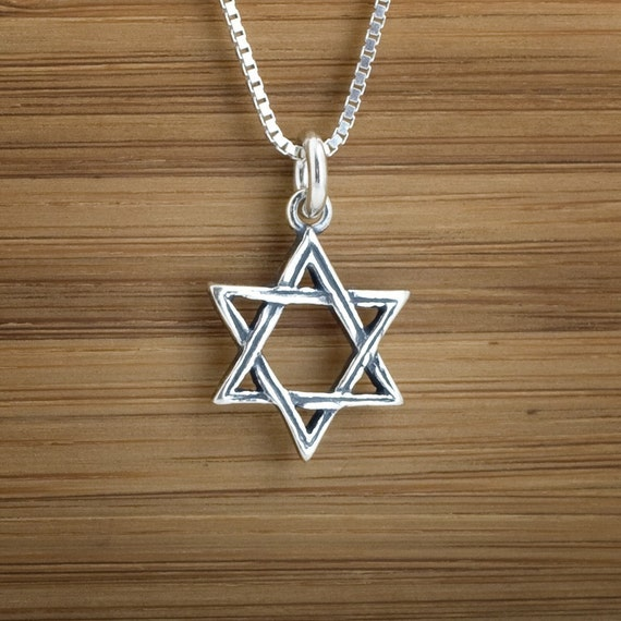 Star of David - STERLING SILVER - (Charm, Necklace, or Earrings)