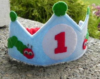 Personalized Hungry Caterpillar Birthday Crown