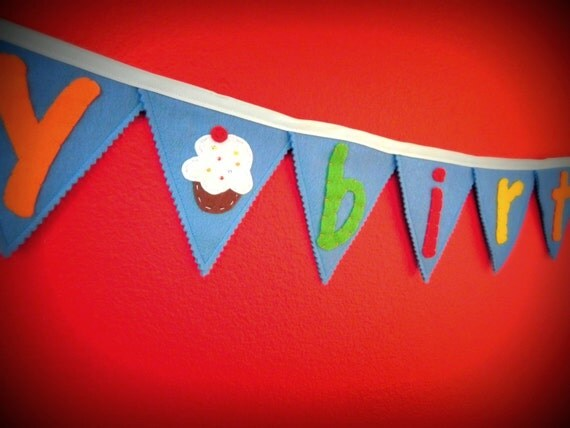 Happy Birthday Pennant Banner - Primary Colors