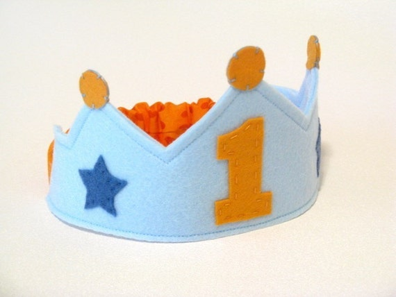 Orange Dot Birthday Crown