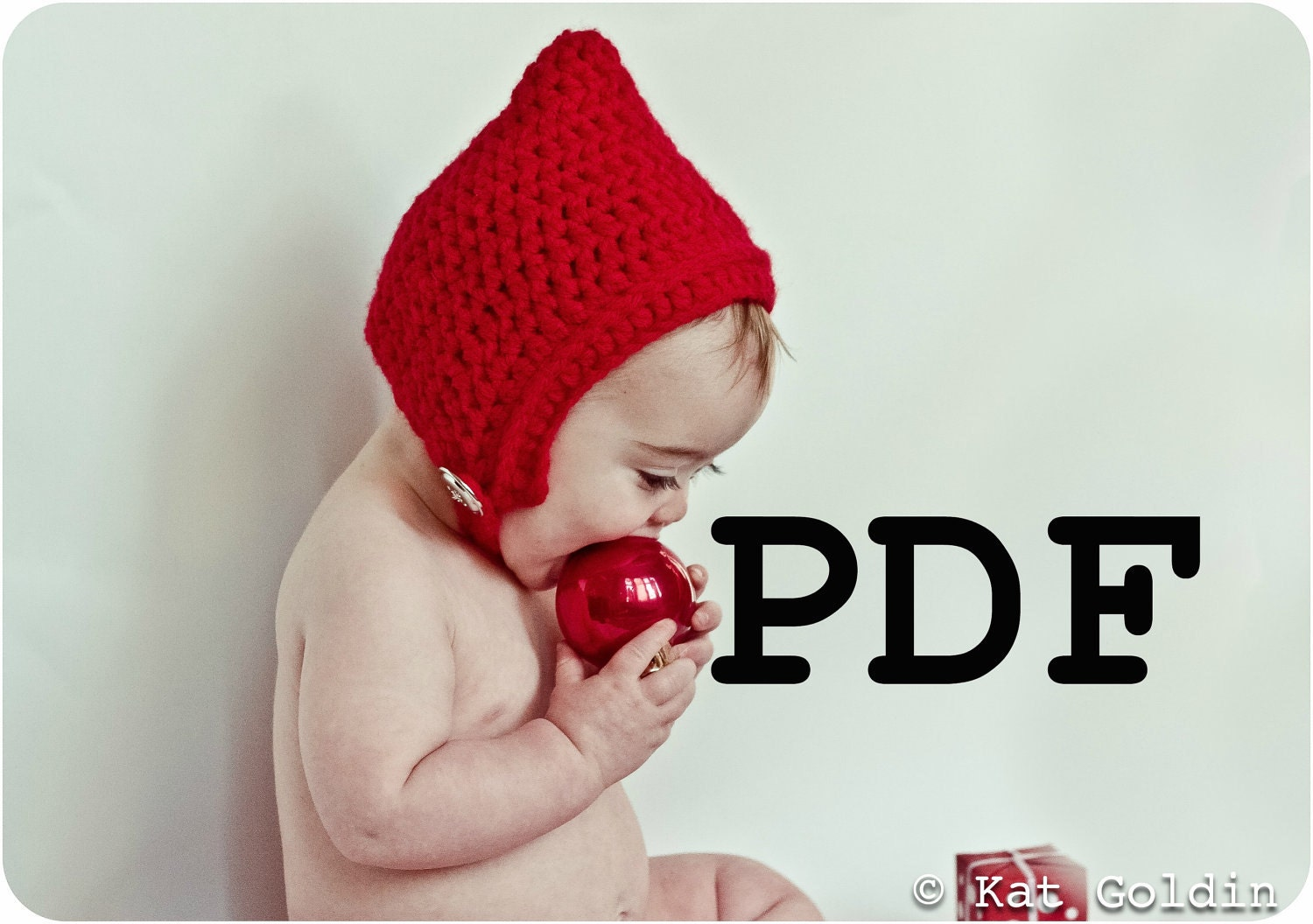 PDF Elf Pixie Gnome Chinstrap Hat for Baby by KatGoldinDesigns