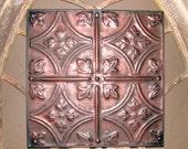 Bronze Red Shimmer Antiqued Tin Ceiling Tile