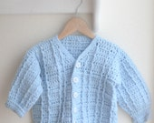 Vintage Blue Knitted Baby Sweater